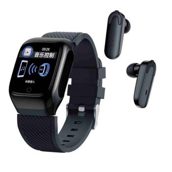 通信(TRNFA)TR-S 300スマートブレスレット5.0 Bluetoothヘッドホン二合一運動腕時計ダイナミック血圧心拍数/収納充電/インテリジェントタッチ/企業独自カスタマイズ