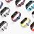 iWOWNはアワの腕輪の2腕のバンドの小さい米の腕輪の1を適用して代わって2知能の運動の時計のバンドのシリカゲルの3 nfc個性の光感の腕時計を持って黒いアワの腕輪の2腕のバンドを持ちます